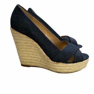 Vince Camuto VP Taryn Denim Wedge Platform Sandals